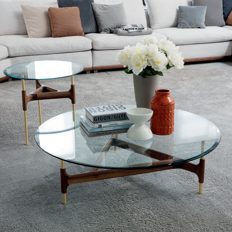 Joint coffee table designed by Marconato Zappa for Porada