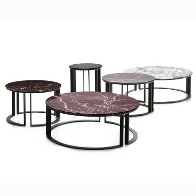 Parallel coffee tables designed for Papadatos