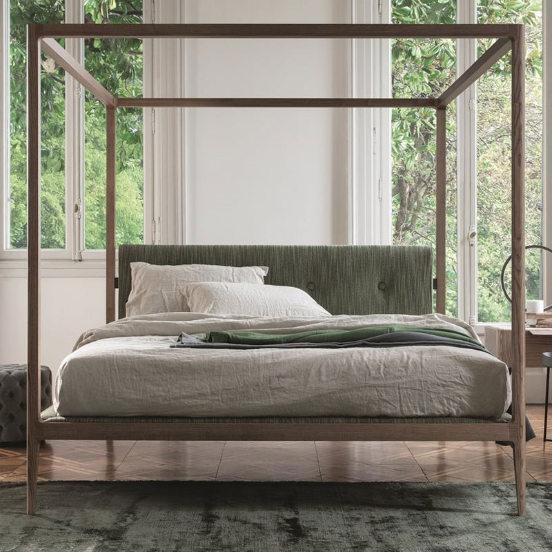 Ziggy bed baldacchino designed by Carlo Ballabio for Porada