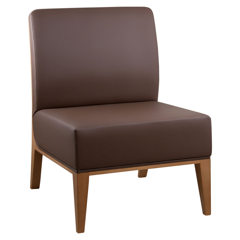 Golden lounge chair designed by CMC